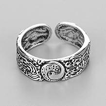 Retro Ringen voor Mannen Vrouwen Punk Goth Snake Dragon Zilver Kleur Ring Overdreven Verstelbare Chic Party Gift Sieraden