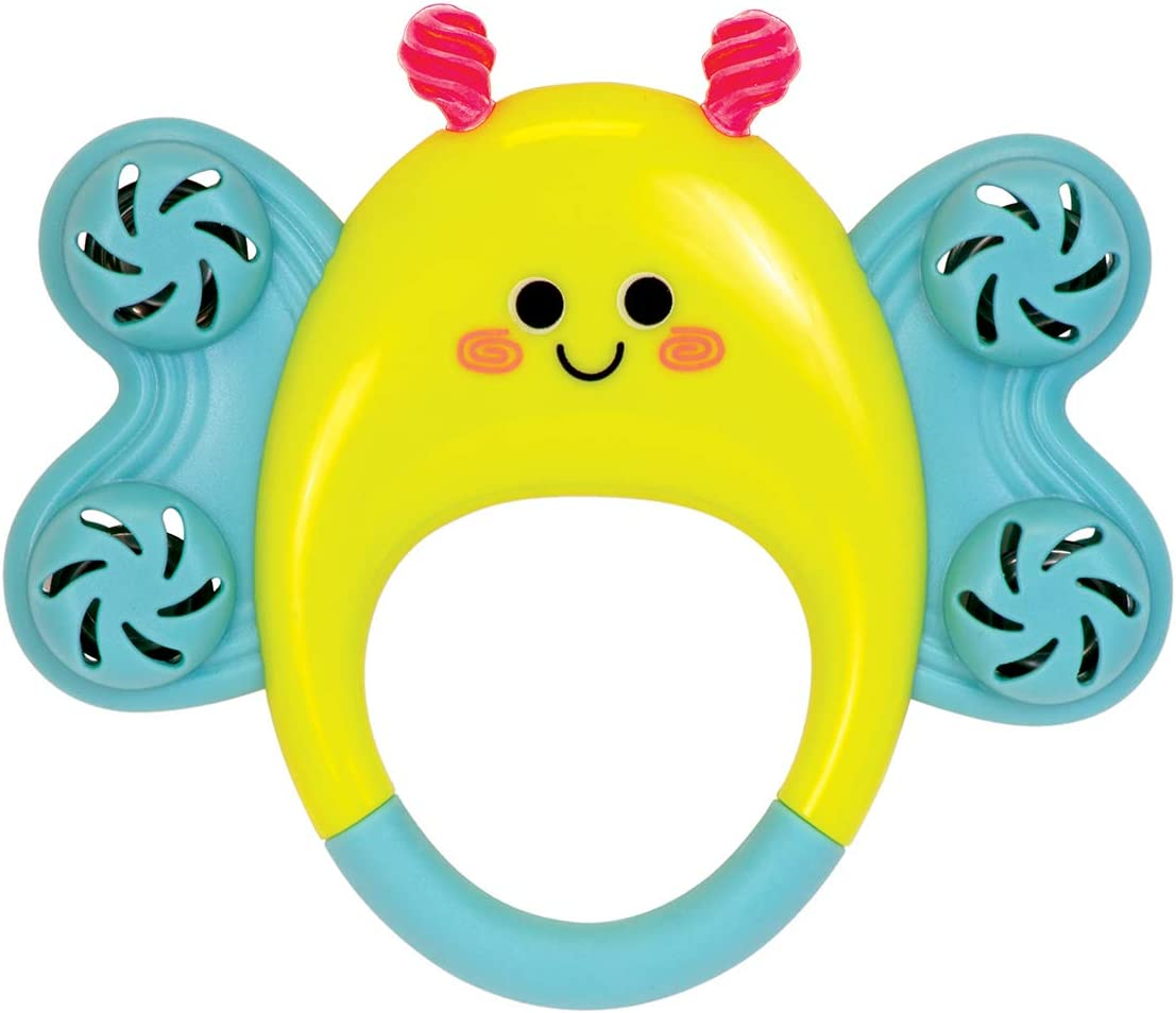 Manhattan Toy Butterfly Tambourine Musical Baby Rattle
