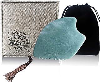 Gua sha facial tools,Gua sha Massage tool comb edge,Guasha tool for face,JadeGua sha Stone for Body Massage Spa Acupuncture Therapy