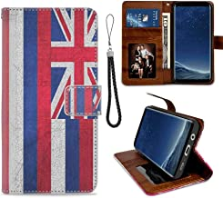 Wallet Case Compatible with Galaxy S8 Plus (2017) [6.2in] State Flag of Hawaii for Girl