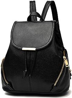 Z-joyee Casual Purse Fashion School Leather Backpack Shoulder Bag Mini Backpack for Women & Girls