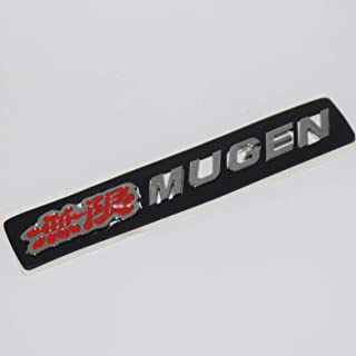 Mugen Chrome Badge Emblem 3D Car Trunk Side Auto Logo Fender Adhesive Replacement Decal Sticker Truck Jeep Van Sports Car Abs Plastic Diy [1 Piece][TOTUMY] (Red)