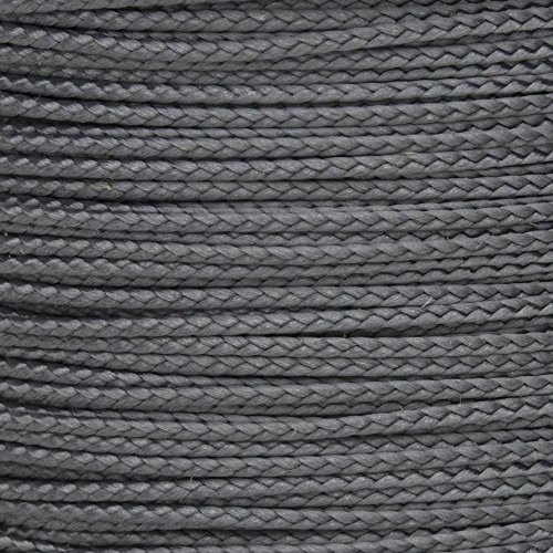 Craft County Nano and Micro Cord – for General Crafting Needs – Braided Cord Design (Graphite, Nano)