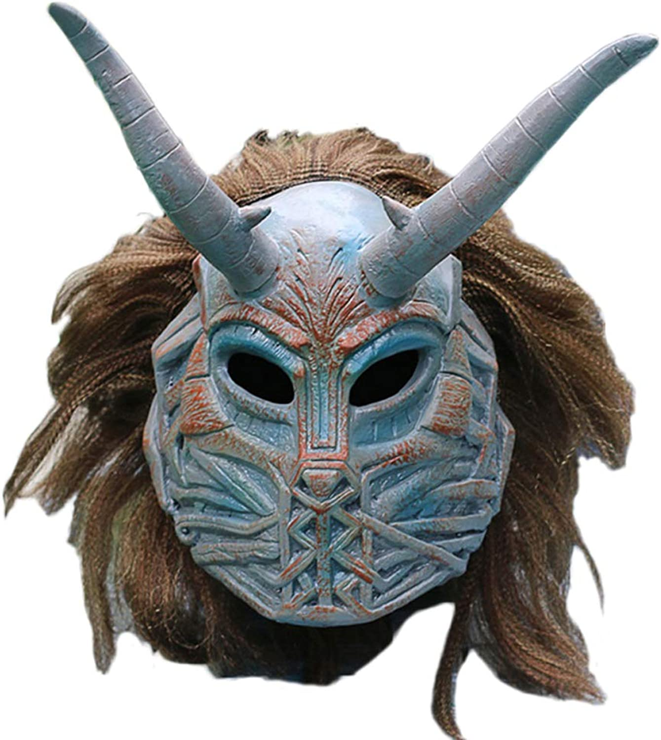 QQWE Marvel Movie Panthers Villain Mask Hood Eric Leopard Halloween Mask Film PropsMasquerade Party Cosplay Mask,AOneSize