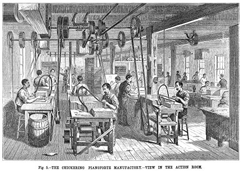 Piano Manufacturing 1878 Nview In The Action Room Of The Chickering Pianoforte Manufactory New York City Line Engraving 1878 Poster Print by (24 x 36) -  Granger Collection, GRC0029399LARGE