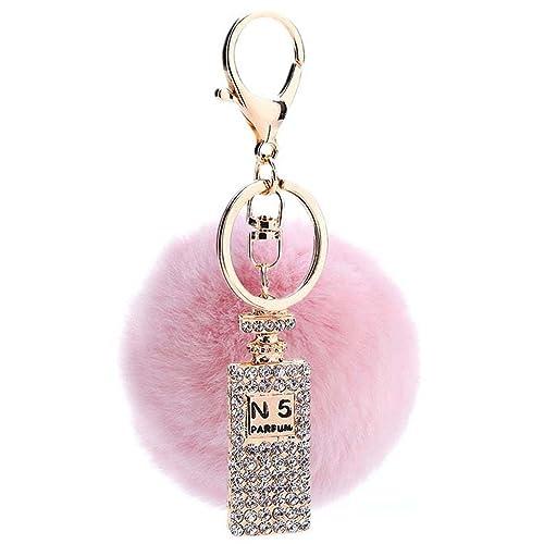 Sumolux Schlüsselanhänger Taschenanhänger Geburtstagsgeschenk mit Plüsch Kugel Ornament