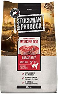Stockman and Paddock High Performance Dry Beef Food for Working Dog, 20 Kilograms