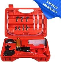 Hand Held Vacuum Pump Tester Set Vacuum Gauge and Brake Bleeder Kit for Automotive with Adapters, Case