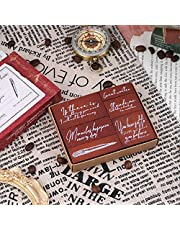 Wooden Rubber Stamps, NOGAMOGA 6 pcs Rubber Stamp Set
