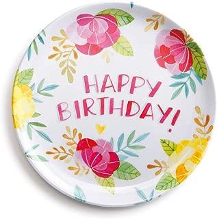 happy birthday melamine plate