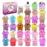 Super Mini Jar 30pcs Slime, Butter Slime, Macaroon Colors Cake Donut and Fruit Slime, Stretchy and Non-Sticky, Stress Relief Toy for Girl and Boys