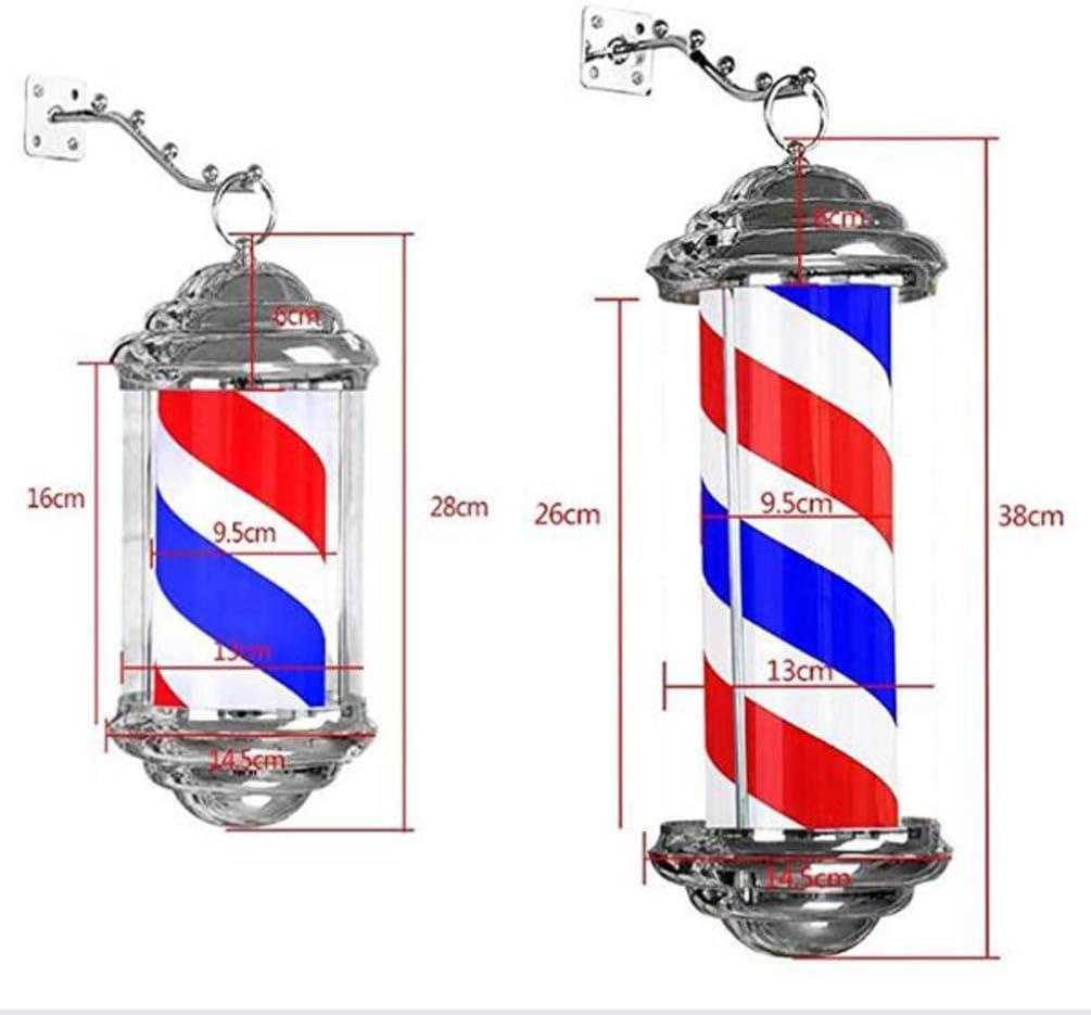 Pixier 28cm barbierstab LED Rotating Illuminating Rot Weiß Blaue Streifen wasserdichte Licht Friseursalon Shop Zeichen Wandleuchte a 28cm/11in