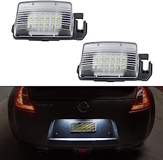 GemPro 2PCS LED لوحة ترخيص مصباح ضوء استبدال مجموعة لسيارة Nissan 350z 370z GT-R مكعب ليف Sentra Versa 5D/4D Infiniti Q60 ...