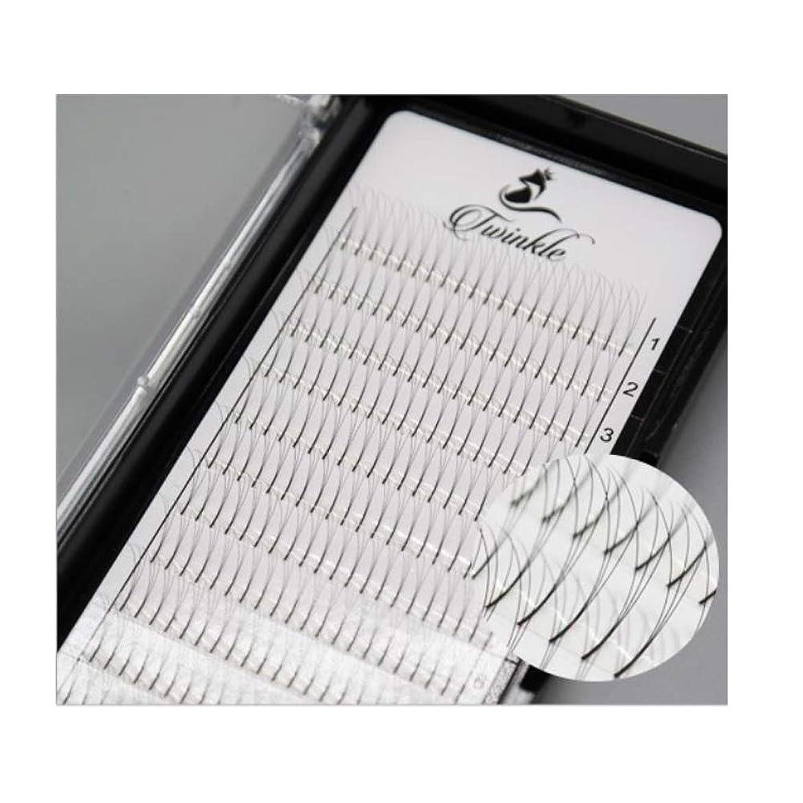 変装塩辛い注文(Twinkle)まつげ エクステ 3D ボリューム 太さ0.07mm Cカール フレア セルフ用 素材 3本束 マツエク/セルフまつげ/高品質 超極細 軽く保持力の良いまつ毛 [海外配送品] (9mm)