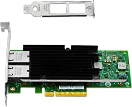 Vogzone for Intel X540-T2 10GB Ethernet Converged Network Adapter Dual Copper RJ45 Port X540 Chipset PCI-E X8 NIC