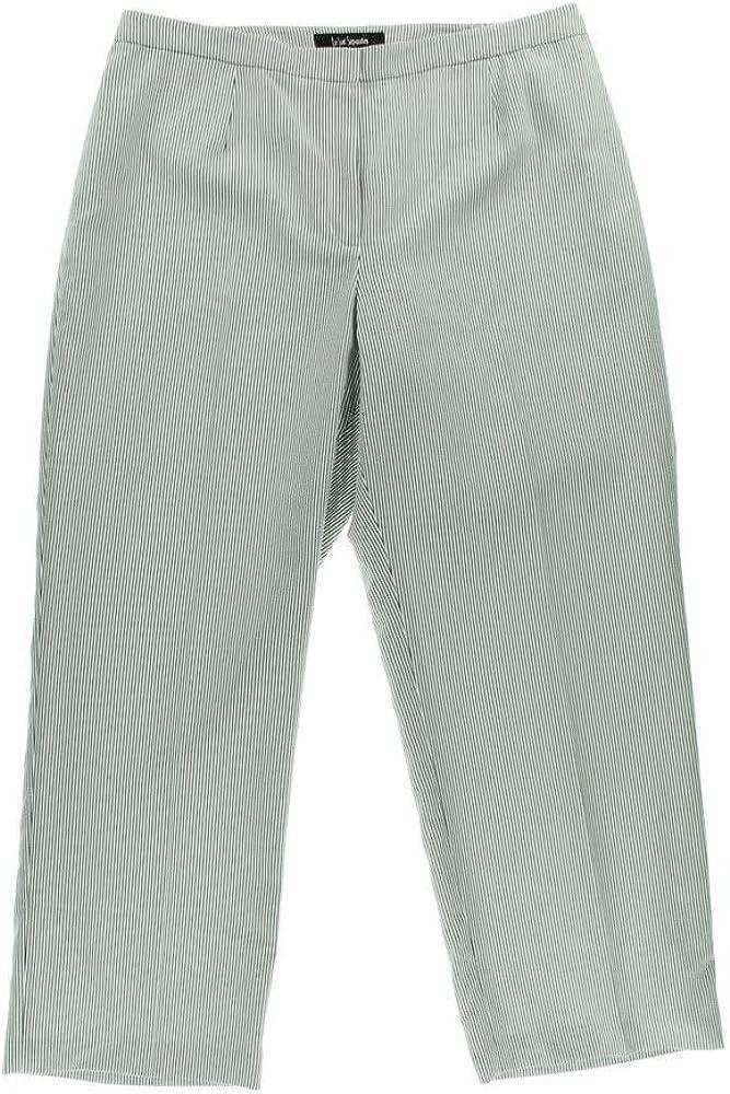 Le Suit Separates Ibiza Straight Leg Seersucker Pants Charcoal & White