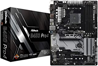 ASRock B450 Pro4 - Placa de Base, Color Negro