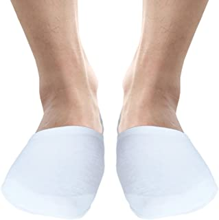 Mens extra wide invisible cotton shoe liner socks low cut summer socks