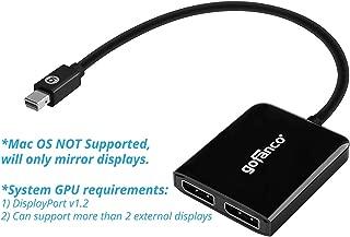 gofanco Mini DisplayPort to Dual DisplayPort MST Hub - mDP 1.2 to 2 DP Splitter, 2 Port DisplayPort Multi Stream Transport Hub, for Windows PCs, NOT Mac OS Compatible (mDPMST2DP)