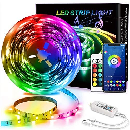 20FT Led Strip Lights, QDH RGB 5050 Color Changing Led Light Strips with 44 Keys...