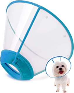 IN HAND Adjustable Pet Recovery Collar Comfy Cat Cone, US Patented Product Soft Edge Plastic Dog Cone Anti-Bite Lick Wound Healing Safety Practical Protective E-Collar