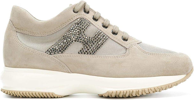Hogan Sneakers Donna HXW00N02011FI70KL4 Camoscio Beige