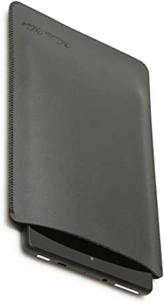 V.M Fire HD 10 / 8 / 7 ケース レザー タブレット スリップインケース [高品質高性能] 軽 薄 皮 革 Kindle New HD10 スリーブ カバー 2017 キンドル ファイヤー10 スリップイン 10インチ スリーブケース アマゾン スリップ 袋 マット ブラック FireHD10 黒 艶消