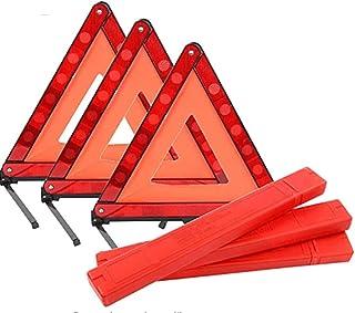 Mottdam Triple Warning,3PCS Reflective Triangle Warning Sign Car Hazard Road Emergency Breakdown Board,Triangle Reflector ...