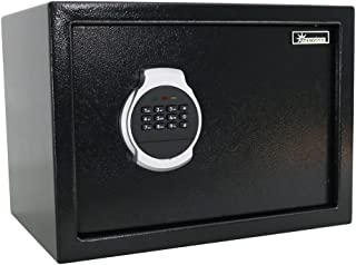 Sunnydaze Digital Safe Lock Box - Personal Home and Business Small Safe Box for Money or Jewelry - Includes Bolt-Down Hardware, Programmable Lock, and Override Security Keys - 0.81 Cubic Feet
