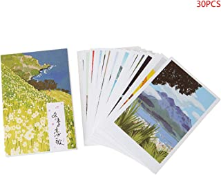 Cher9 30 Sheets Winter Sonata Paintings Retro Vintage Postcard Christmas Gift Card Wish Poster Cards