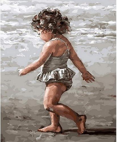 Waofe Tableau Peintures à L'Huile Par Numéros Décoration Murale Bricolage Peinture Sur Toile Pour La Décoration Intérieure Marche- No Frame4