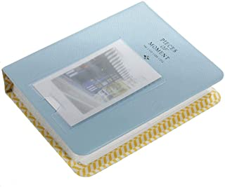 Depory - Mini álbum de fotos (con 64 compartimentos para fotos polaroid) color azul