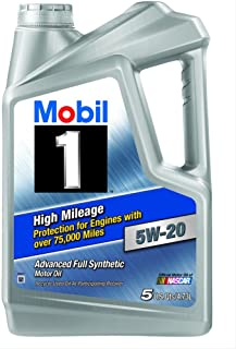 Mobil 1 (120768 High Mileage 5W-20 Motor Oil - 5 Quart