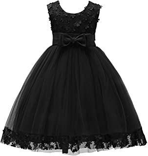 1-14 Years Big/Little Girl Flower Lace A-line Party Dresses