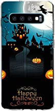Case Compatible for Samsung Galaxy S10 Plus Halloween Trick or Treat Ghosts Gothic Skeleton Thriller Pumpkin Design TPU Silicone Protector Shell Bumper for Galaxy S10 Plus