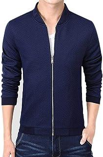 Targogo Vetements De Baseball pour Hommes Manteaux Manteau Outwear Manches Abbigliamento Longues Vintage avec Zipper Stand...