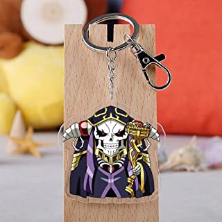Raleighsee Anime Overlord Ainz Ooal Gown Momonga Symbol PVC Pendant Keychain Keyring Necklace Chain Ornament Cosplay Collection Gift Cool( H03)