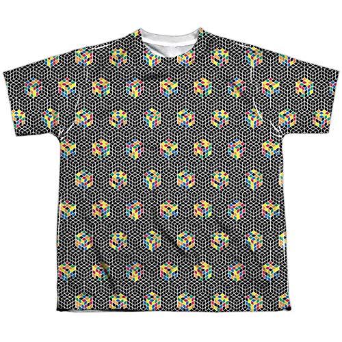 Rubik's Cube - Camiseta de sublimación para hombre, color blanco y negro - Blanco - Medium