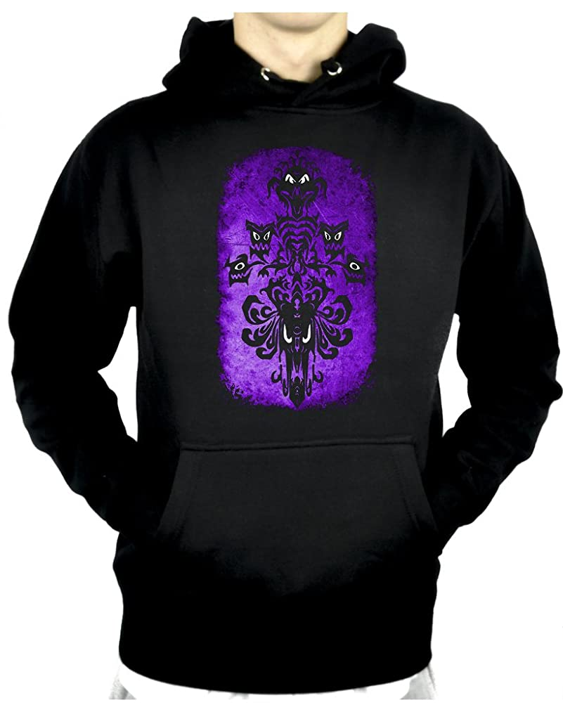 YDS Accessories Haunted Mansion Wallpaper Pullover Hoodie Sweatshirt Halloween Alternative Clothing
