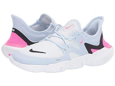 Nike Free RN 5.0 (White/Black/Half Blue/Hyper Pink) Women