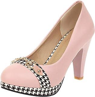 Snone Escarpins Femme Night Club Super Talons Talon Fin Talons Hauts F/éminins avec Une Plateforme Imperm/éable Chaussures de Soir/ée