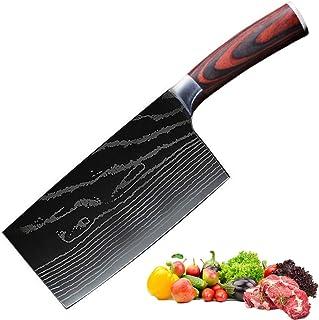 Promithi Full Tang Couperet à viande forgé à la main Couteau de chef de cuisine, Légumes et tranchage Couteau de boucher C...