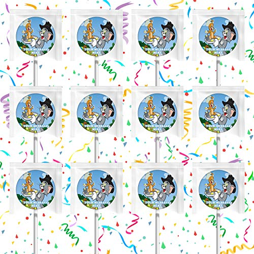Tom and Jerry Party Favors Supplies Decorations Lollipops 12 Pcs