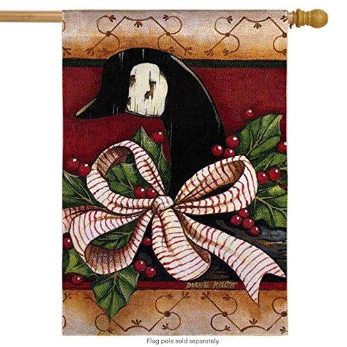 House-Impressions régulière de taille en soie Reflections Drapeau : d'oie de Noël