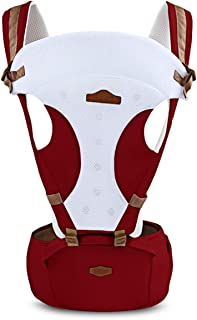 Baby Carrier 0-30 Months Breathable Comfortable Babies Kids Carrier Infant Backpack Baby Hip Seat Waist Stool,Claret