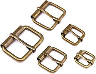 ◕‿◕ Swpeet 50 Pcs Bronze Assorted Multi-Purpose Metal Roller Buckles for Belts Hardware Bags Ring Hand DIY Accessories - 1/2 Inch, 5/8 Inch, 3/4 Inch, 1 Inch, 1-1/4 Inch