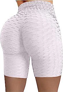 N-B Mallas Cortas para Mujer Push Up Pantalones Cortos de Cintura Alta Running Leggings Medias Mayas de Deportivas Elástic...