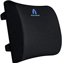 Lumbar Support Pillow, Pure Memory Foam Back Support Cushion with Dual Adjustable Straps, Breathable Mesh Cover - Back Pil...