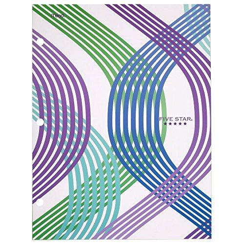 "Five Star 4-Pocket Folder, 9-3/8"" x 12"" x 1/8"", Design Selected for You, 1 Count (33222)"
