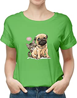 dog and cat New modern T-shirt for women TSW-8015